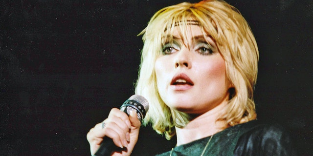 Debbie Harry of Blondie performs on stage at Hammersmith Odeon on Jan. 11, 1980 in London. She revealed in an upcoming memoir that she was once raped at knifepoint — and that she accepted a ride from serial killer Ted Bundy.