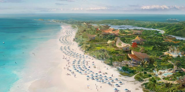 An illustrated rendering of the future Lighthouse Point on the Bahamian island of Eleuthera.