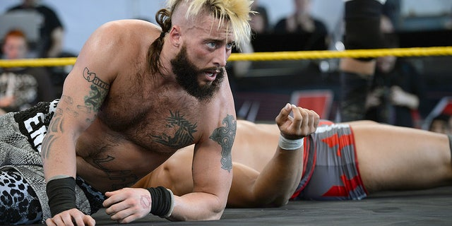 WWE Nxt wrestler Eric Arndt (then known as Enzo Amore) performs at Gibson Ranch County Park on Oct. 24, 2015 in Sacramento, California. Arndt is planning a major comeback to pro wrestling.