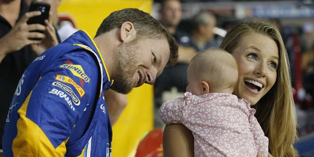 Dale Earnhardt Jr., wife Amy and their baby daughter Isla were hospitalized and treated for minor injuries after their plane crashed at lizabethton Municipal Airport in Elizabethton, Tenn. on Aug. 15.
