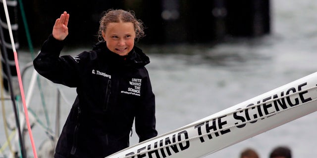 Swedish climate activist Greta Thunberg arrives in the U.S. after a 15-day journey crossing the Atlantic.