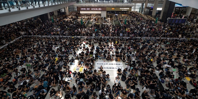 Westlake Legal Group hong_kong Hong Kong International Airport continues to see delays as thousands of protesters occupy terminals for a fifth day Paulina Dedaj fox-news/world/world-regions/hong-kong fox news fnc/world fnc article 40ffa553-f33d-521b-9868-014d1472c24a