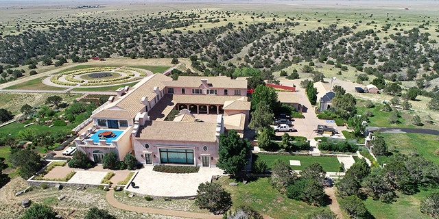 Zorro Ranch, one of the properties of financier Jeffrey Epstein, seen in an aerial view near Stanley, N.M.