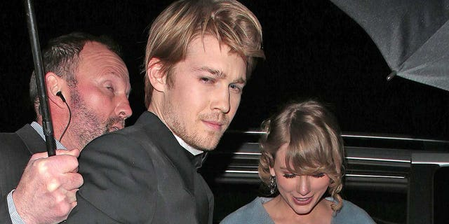 Joe Alwyn and Taylor Swift seen at the BAFTAs: Vogue x Tiffany Fashion & Film - afterparty at Annabel's on Feb. 10, 2019 in London.