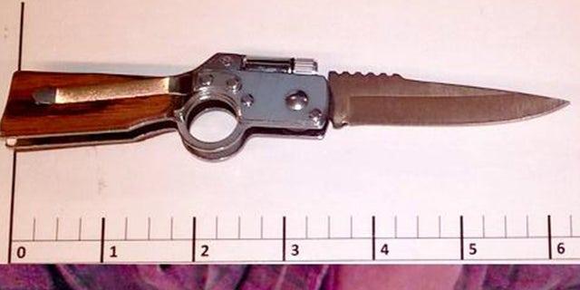 Apassenger traveling through Washington's Paine Field tried to bring a knife, shaped like a gun, through a TSA security checkpoint.