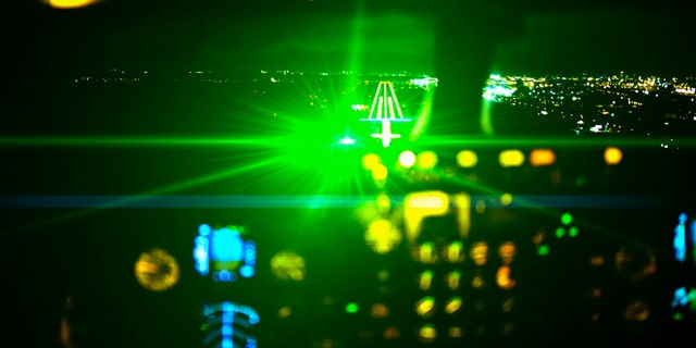 The lasers reportedly targeted the first flight from roughly 4 miles away from the runway, while the second flight is said to have been targeted from near Cardigan Fields Retail Park.