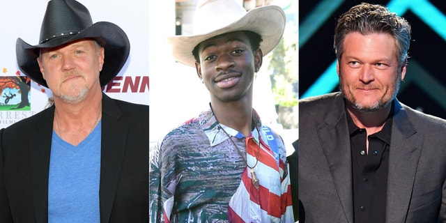 Westlake Legal Group lil-nas-x-blake-shelton-trace-adkins Blake Shelton denies shading Lil Nas X in Trace Adkins duet referencing 'Old Town Road' Jessica Sager fox-news/person/blake-shelton fox-news/entertainment/music fox-news/entertainment/genres/hip-hop-rap fox-news/entertainment/genres/country fox news fnc/entertainment fnc article 275256fd-d63b-5c30-9c96-f2711e9eae61