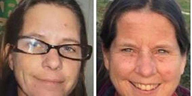 Amara J. Lundy, 23, left, strangled her mom, Susan Lundy, 58, with a cord, then dismembered the body and scattered the remains in various dumpsters and trash cans around Olympia, Wash.m authorities say. (Olympia Police Department)