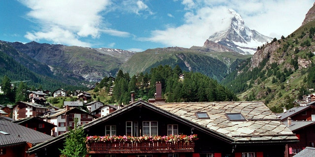 The Matterhorn, whose peak is 14,692 feet above sea level, is one of the highest and most famous peaks in the Alps. It straddles the border between Switzerland and Italy.
