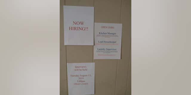"McGregor posted ""open jobs"" – which included kitchen manager, lead housekeeper and laundry supervisor – as well as a sign for ""Mom's Credit Union,"" and printed applications for each of her three children to apply for the positions."