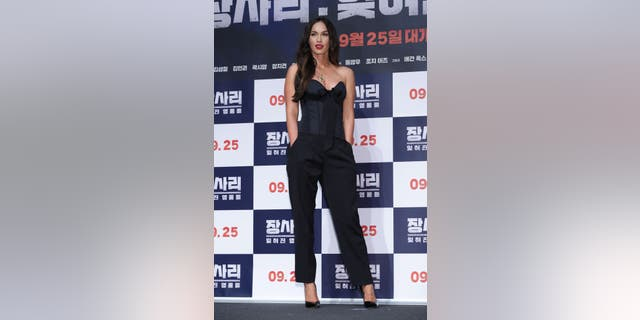 Megan Fox attends the press conference for 'Battle Of Jangsari' on Aug. 21, 2019 in Seoul, South Korea. (Getty)