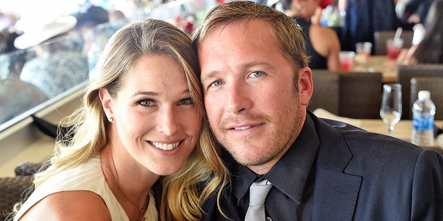 Morgan Beck Miller and Bode Miller attends The 142nd Kentucky Derby at Churchill Downs on May 7, 2016 in Louisville, Kentucky. The couple announced in August 2019 that they are expecting twins.