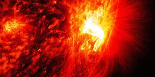 Radio image of the galactic center.