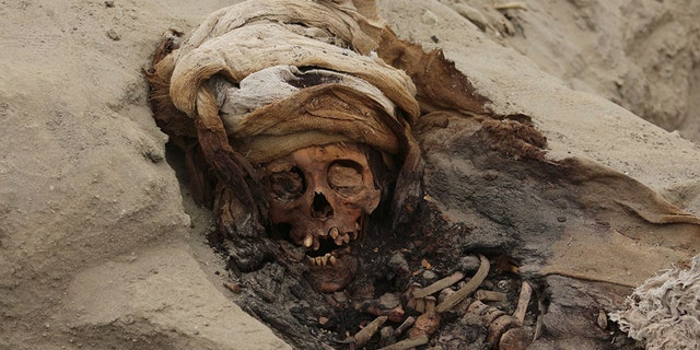 The grisly remains of more than 200 children and warriors were found at Huanchaco in Peru.