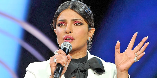 Priyanka Chopra attends Beautycon Festival Los Angeles 2019 on Aug. 10, 2019. A fan in the audience called Chopra out on her alleged pro-nuclear war stances in the ongoing tensions between India and Pakistan.