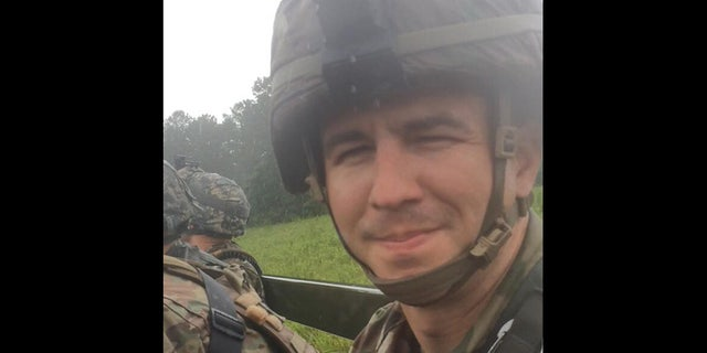 Tuder spent two years in the Alabama National Guard before becoming a police officer. (Courtesy Krissy Tuder)