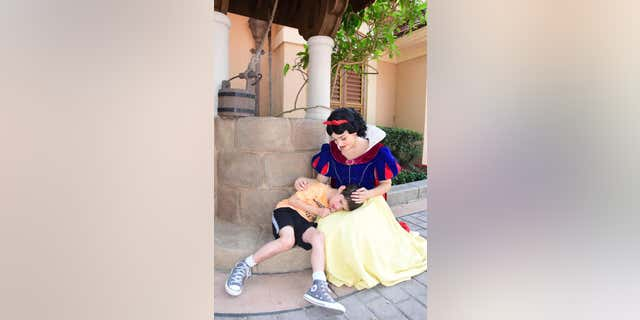 Snow White at Disney World's Epcot park is going viral for the heartwarming moment she shared with a boy who has autism and is non-verbal.