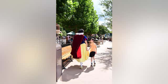Bergner shared that Snow White danced and held the boy's hand after he became overwhelmed in line.
