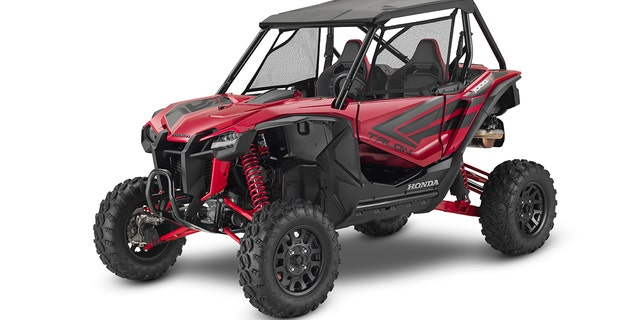The Talon 1000R features a wider track and more suspension travel than the 1000 X.