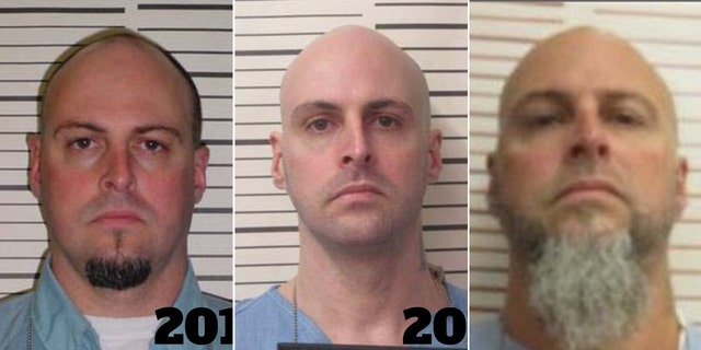 The Tennessee Bureau of Investigation released several images of Curtis Ray Watson, 44, Thursday, fearing that the escaped inmate may have altered his image since breaking out from the West Tennessee State Penitentiary the previous day. He is picture from left to right in mugshots dating from 2011 to his present incarceration.