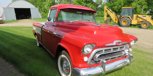 Graham's 1957 Chevy Cameo is fully restored.