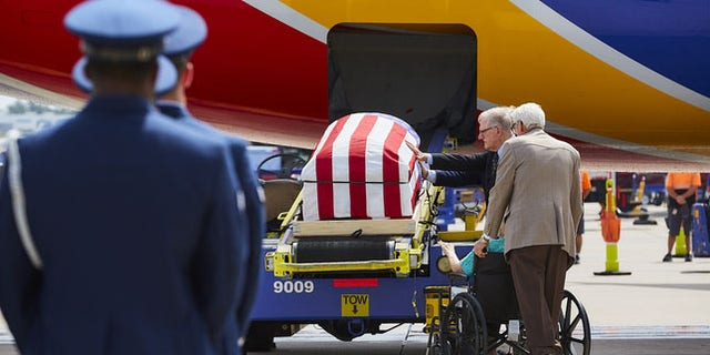 Vietnam War airman's remains flown home by pilot son