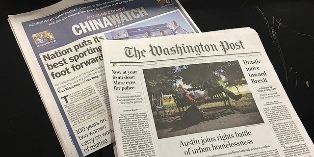 "The Washington Post included an eight-page ""advertising supplement"" controlled by the Chinese government. (Alex Pappas)"