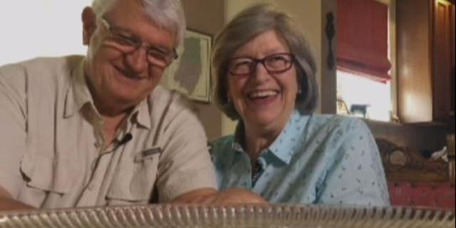Anne and David Cowburn of West Grove, Penn., have been eating their wedding cake for 49 years.
