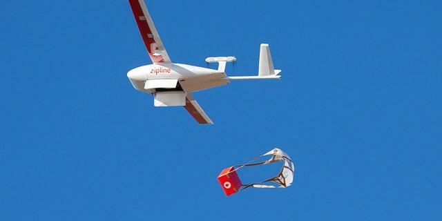 Drone delivering Rwanda