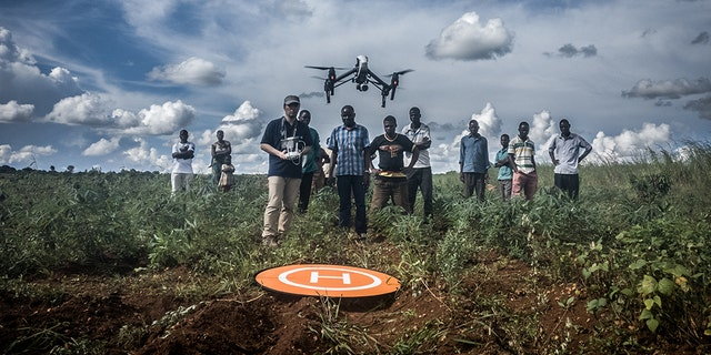 Drones are being used here to rush blood samples from newborn babies, testing for HIV, to laboratories – and the results are flown back fast. Speed of diagnosis is very important for newborns' survival, says Juskauskas.