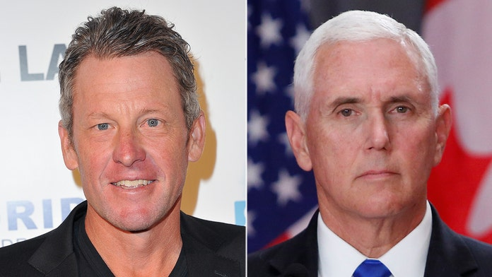 Lance Armstrong says he 'blew the f-----' doors off Mike Pence' on bike path in Massachusetts