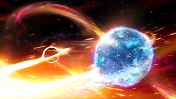 Black hole devouring a neutron star caused ripples in space and time, scientists say