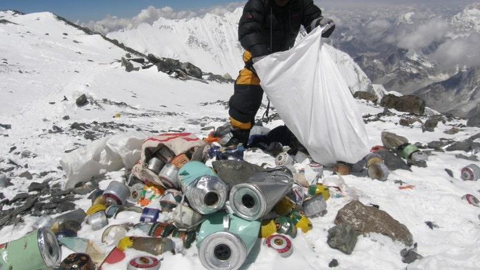 Mount Everest gets plastics ban as officials battle garbage pileup on the famous peak: report