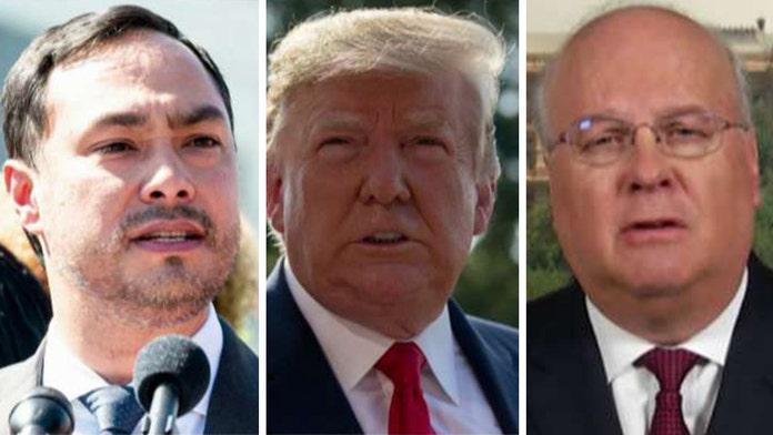 Karl Rove: Joaquin Castro tweeting Trump donor list was 'thuggish behavior'