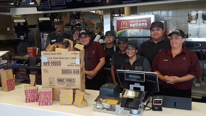 Texas woman says McDonald's manager had surprising response to her request for help in feeding homeless