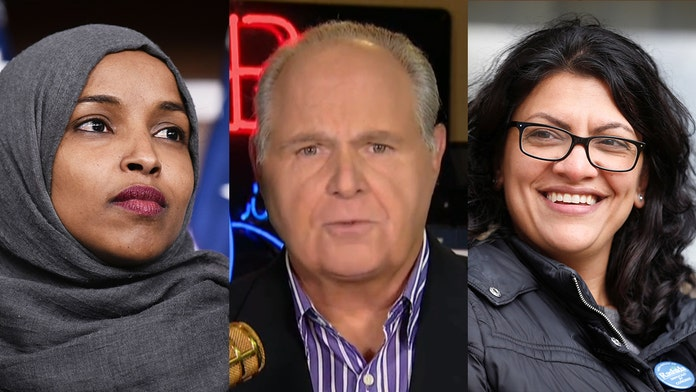 Rush Limbaugh supports Israel's decision to block Omar and Tlaib, calls them 'anti-Semites'