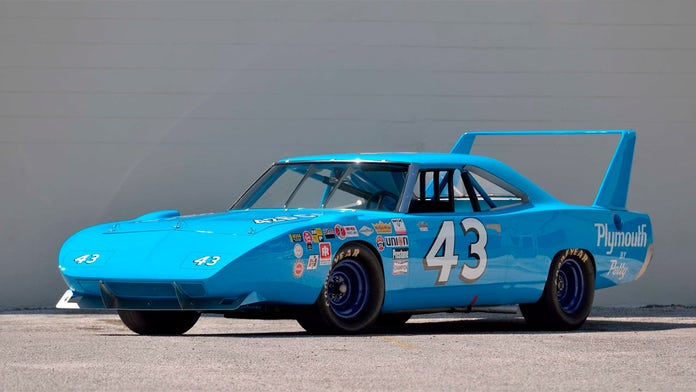Richard Petty's once lost NASCAR Plymouth Superbird is heading to auction and the sky's the limit