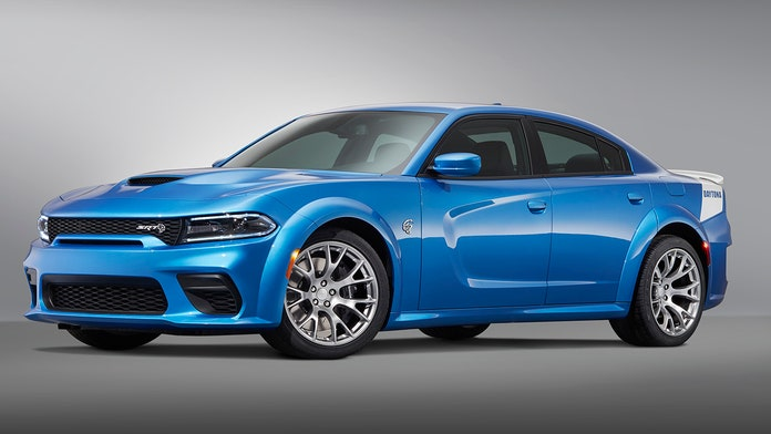 The 2020 Dodge Charger SRT Hellcat Widebody Daytona 50th Anniversary Edition is the world's most powerful s...