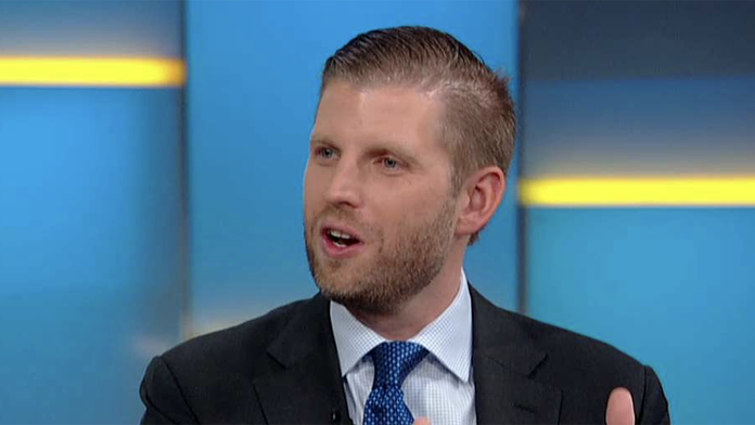 Eric Trump accuses the left of a 'full-out assault on the American dream'