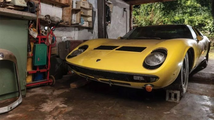 Dusty garage find Lamborghini expected to sell for $1 million or more