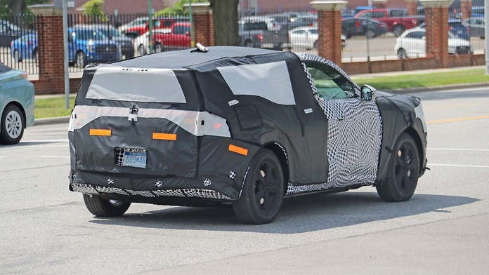 Secret electric Ford Mustang-inspired high performance SUV caught on camera