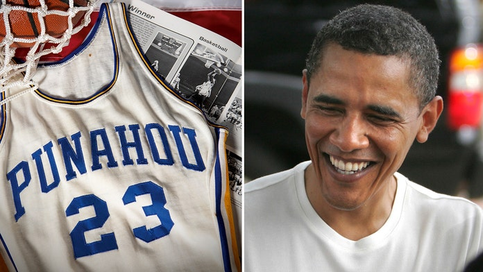 Obama's high school basketball jersey sells for $120G at auction