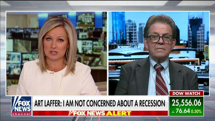 Art Laffer says he's not concerned about a recession following Dow's massive plunge