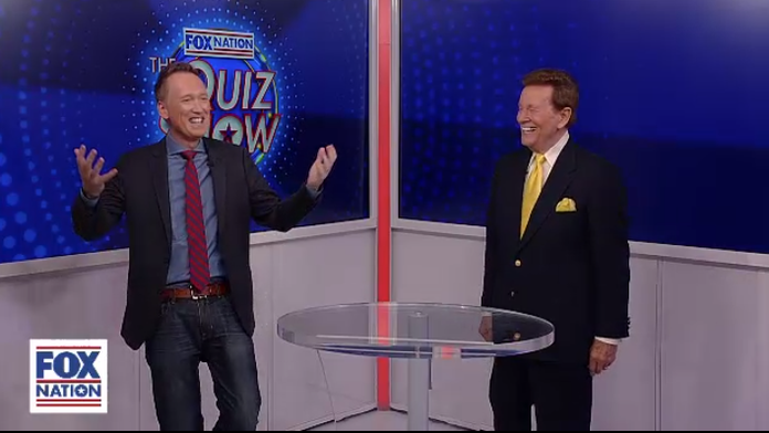 Wink Martindale offers Tom Shillue his game show secrets on Fox Nation's 'Quiz Show'