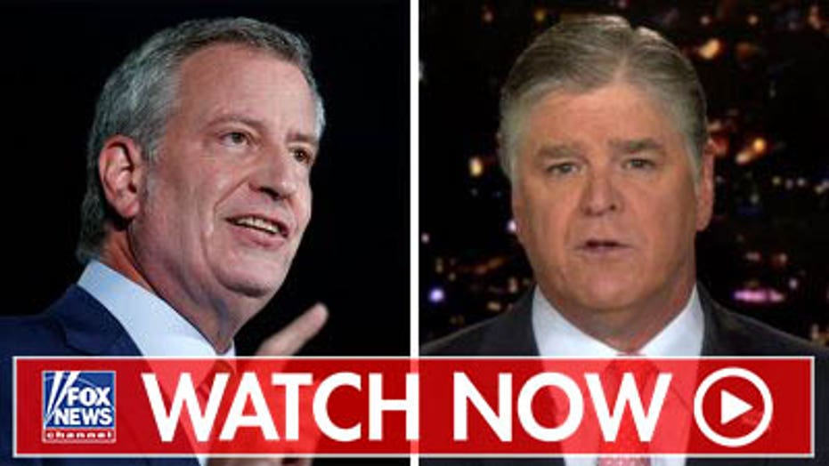 Bill de Blasio to appear on 'Hannity' Wednesday 9 PM ET