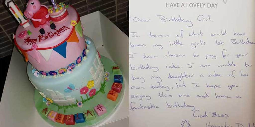 Excellent Anonymous Dad Buys Cake For Strangers Niece On His Late Funny Birthday Cards Online Alyptdamsfinfo
