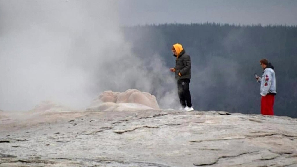 Yellowstone tourists arrested on odd charge at Old Faithful