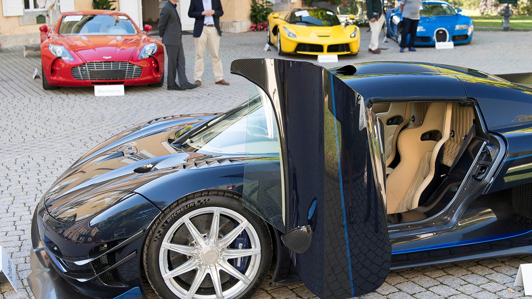seized politician's exotic cars