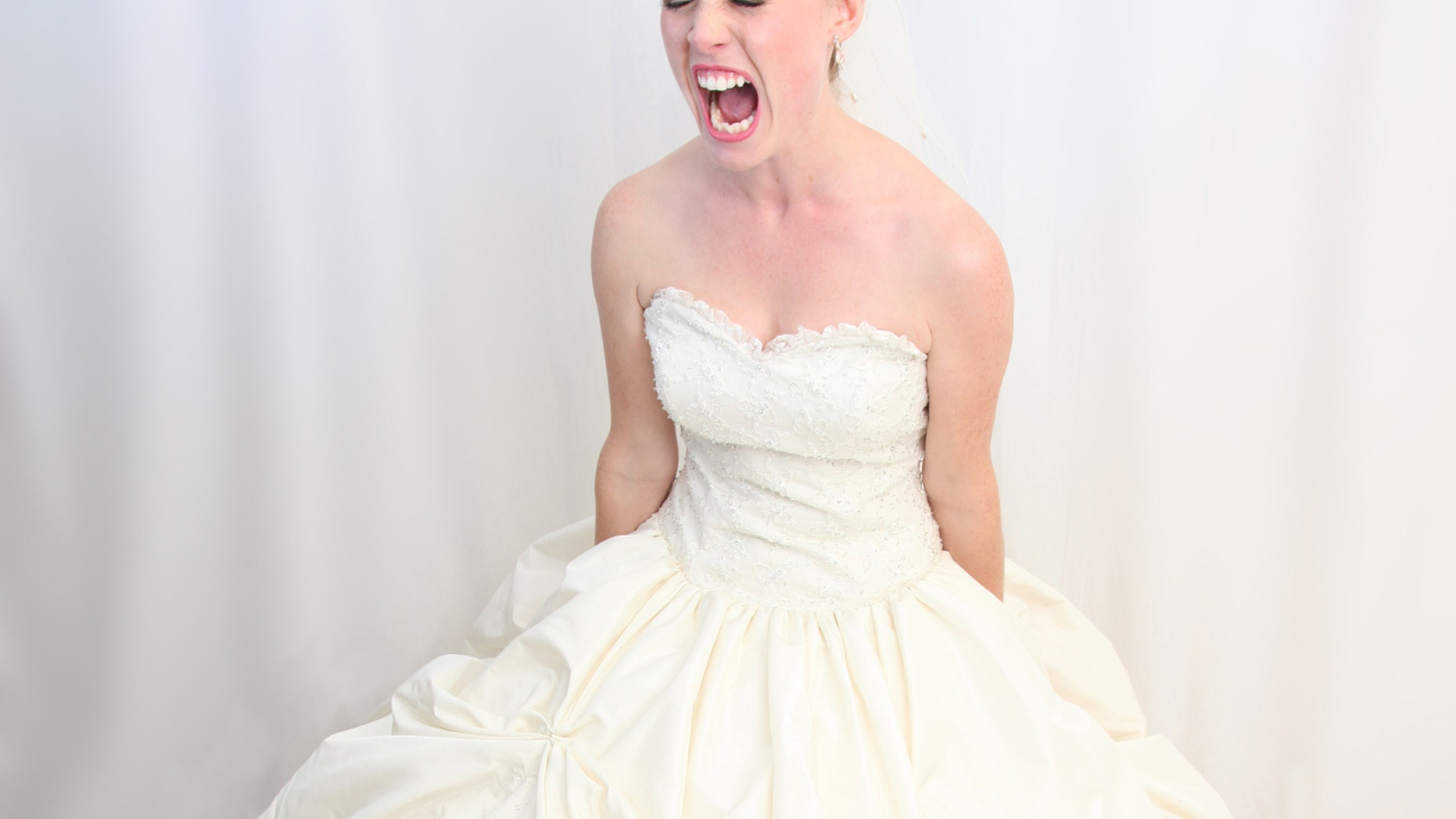 When the bride saw her husband dancing with his mother-in-law during the ceremony, she ran out and was seen crying, ranting and raving. (iStock)