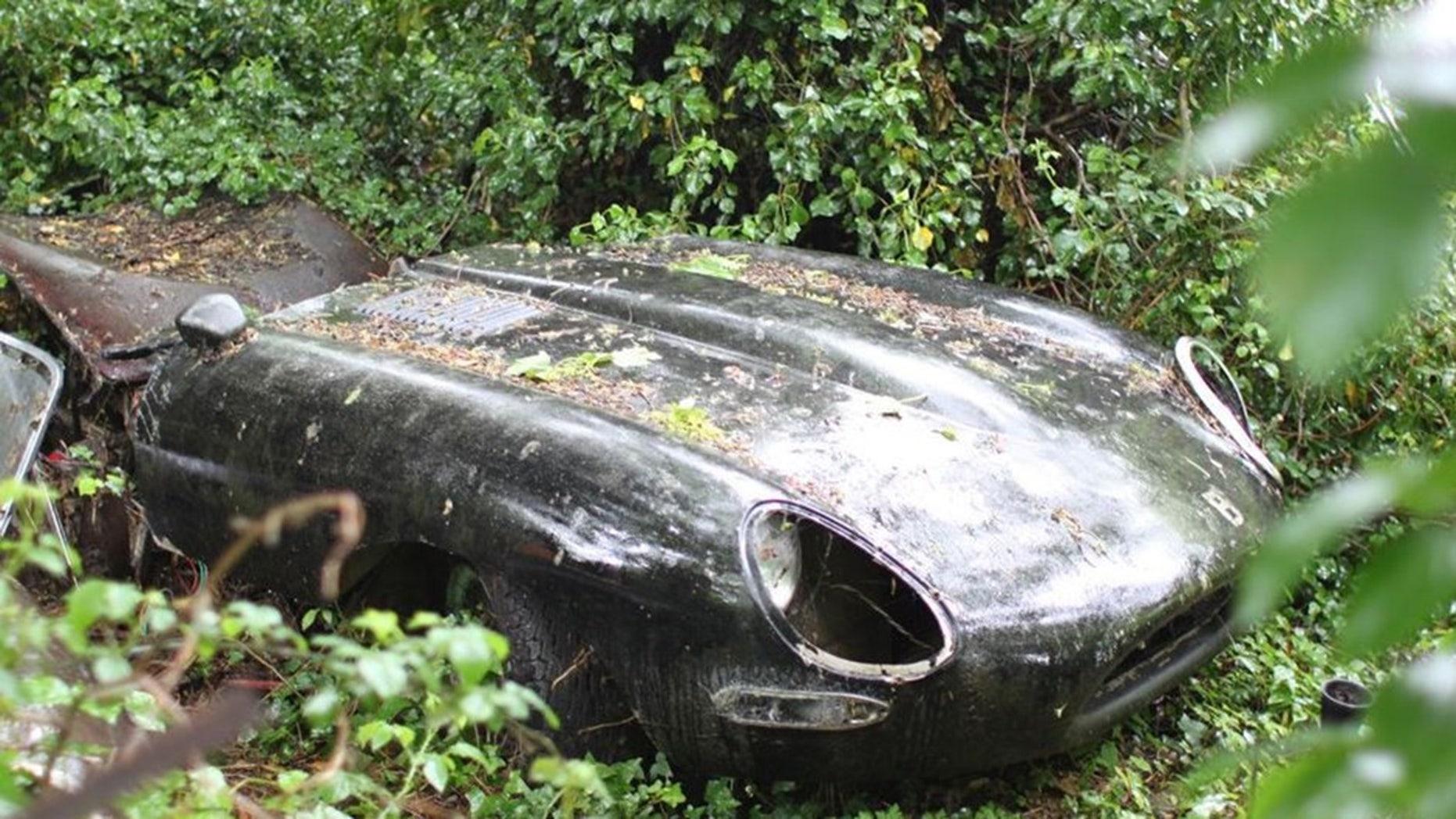 Rotting 1964 Jaguar E-Type